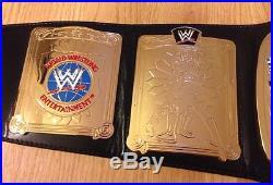 WWE WWF European Championship Belt Adult Replica mint flawless metal leather