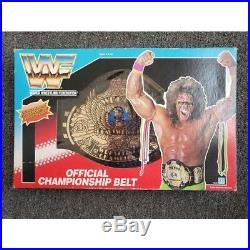 WWE WWF Hasbro Championship Belt in Ultimate Warrior Box