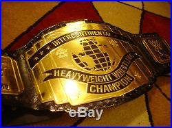 WWE WWF Intercontinental championship replica belt adult size real metal leather