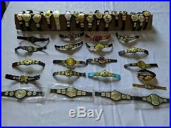 WWE WWF ROH ECW Jakks Mattel Action Figure Championship Belts Lot of 35