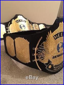 WWE WWF Replica Winged Eagle Championship Title Belt Adult size free carry case