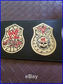 WWE WWF Stone Cold Smoking Skull Authentic Championship Replica Belt Title Metal