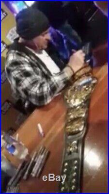 WWE WWF Undertaker Autographed Championship Replica Belt FIGS INC RIP Inscript