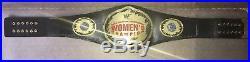 WWE WWF WOMEN'S Championship Belt adult replica LEATHER LITA TRISH STRATUS F/S