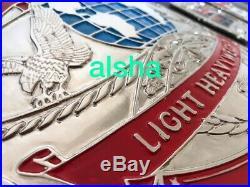 WWE WWF World Lightweight Championship Belt Adult Zinc Plates 4mm