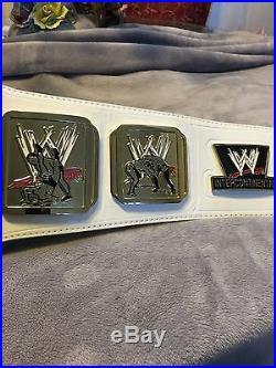 WWE White Intercontinental Championship Adult Replica Title Belt