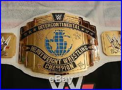 WWE White Intercontinental Championship Commemorative IC Title Belt with Bag WWF
