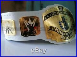 WWE White Intercontinental Championship White Title belt 2mm Plates