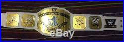 WWE White Intercontinental Championship Wrestling Leather Adult Belt Replica