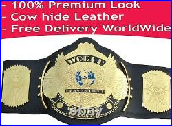 WWE Winged Eagle Championship Replica Title Belt Genuine Leather 4 mm Pure Brass