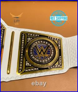 WWE Women Smackdown Championship Replica Title Belt Adult Size BLUE Brass 2MM