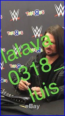 WWE World Championship Belt Signed Autograph Rollins Reigns Triple H AJ Styles