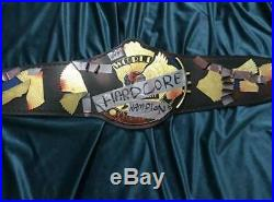 WWE World Hard Core Championship Belt / Real Leather / Adult Size (Replica)