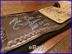 WWE World Heavyweight Championship Belt 4MM Big Gold Curved Flair Real Leather