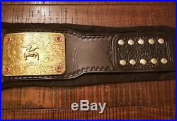 WWE World Heavyweight Championship Belt 4MM Big Gold Curved Plates Real Leather