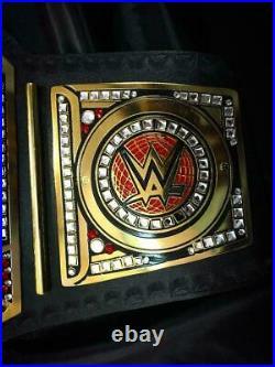 WWE World Heavyweight Championship Belt Chrome Leather Adult Size Replica