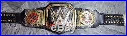 WWE World Heavyweight Championship Leather Replica Title Belt Zinc Alloy & Brass