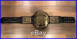 WWE World Heavyweight Championship Replica Belt Releathered Curved Signed
