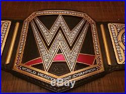 WWE World Heavyweight Championship Replica Restoned on Real Leather Belt