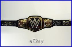 WWE World Heavyweight Championship Replica Title Belt Signed by Six WWF Stars