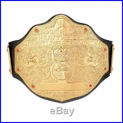 WWE World Heavyweight Championship Replica Title Leather Belt 4mm Zinc Alloy
