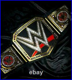 WWE World Heavyweight Championship Tit Belt Leather Adult Size Replica Brass 2m