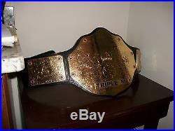 WWE adult sized Gold World Heavyweight Wrestling Championship Replica Belt 2008