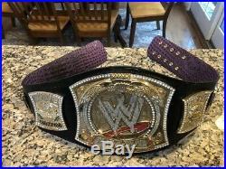WWE championship wrestling belt Spinner on REAL LEATHER