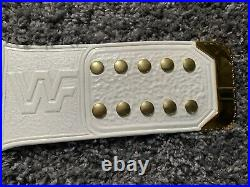WWF Andre 87 World Title Belt. Figs Inc Plates, Adam Kelly Leather No Holds Bared