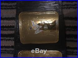 WWF Attitude Era World Championship Replica Belt-Real Leather-100% Official-WWE