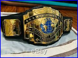 WWF BLOCK Logo intercontinental Championship Belt Master Series WWE SIGNED