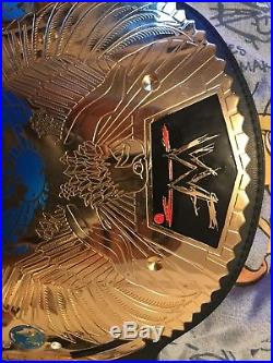 WWF Big Eagle Championship Title Belt Replica WWE Figures Inc. Leather