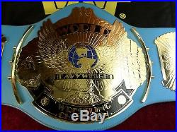WWF Big Gold Eagle Blue World Heavyweight Championship Belt Replica Adult WWE