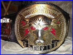 WWF Brahma Bull Wrestling Title Championship Belt (WWE, NWA, WCW, AWA, TNA, ROH, IWGP)
