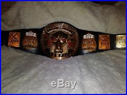 WWF Brahma Bull Wrestling Title Championship Belt (WWE, WCW, NWA, AWA, IWGP, TNA)