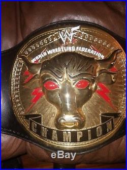 WWF Championship Belt Rock Version made by Classic Shields. (WWE, WCW, ECW, ROH)