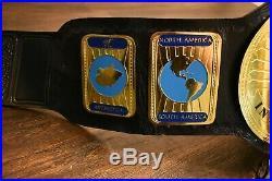 WWF Intercontinental Championship Wrestling Belt WWE TNA AEW Leather Swarovski