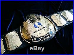 WWF Logo'd Winged Eagle Replica Championship Belt Releathered WM20 WWE