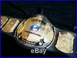 WWF Logo'd Winged Eagle Replica Championship Belt Releathered WM20 WWE