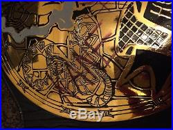 WWF Smoking Skull Championship Belt Replica Signed By TheRock, Stone Cold & more