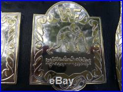 WWF Tag Team Belt 4mm Brass Dual Plated WWE WCW NWA AWA WRESTLING CHAMPIONSHIP