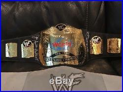 WWF Tag Team Championship Adult Replica Belt Signed Bret Hart & Jim Neidhart WWE