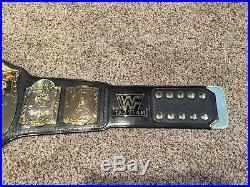 WWF Tag Team Vintage Replica Championship Belt Figures Toy Inc RARE WWE