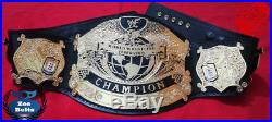 WWF UNDISPUTED Championship Title Belt 2mm Gold Plating Adult Size