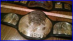 WWF WCW Tag Team Championship Title Replica 2 Belts Belt WWE Used x2 Figs Inc