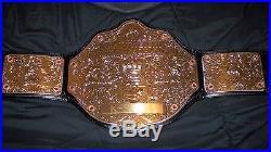 WWF WWE ADULT SIZE 2009 World Heavyweight Championship Title Belt WITH BELT BAG