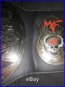 WWF WWE AUTHENTIC Smoking Skull Championship Title Belt Figs Inc Snake Skin
