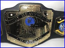 WWF/WWE Adult Metal Leather Lightweight Championship Replica Belt 2001 RARE