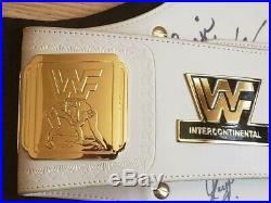 WWF WWE Autographed Intercontinental Replica Championship Belt Piper Flair Etc