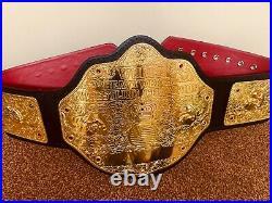 WWF WWE Classic BIG Gold Championship Belt Adult Size